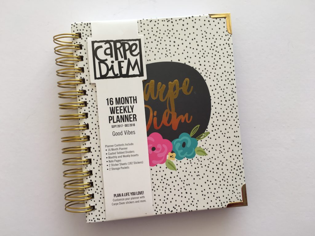 carpe diem 16 months planner review pros and cons horizontal 2 page weekly spread neutral colors a5 spiral bound hardcover cheap planner blogging school academic year