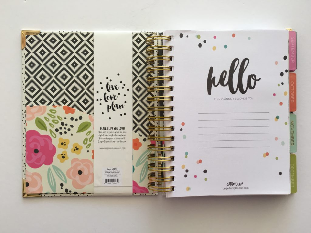 carpe diem planner simple stores a5 inserts spiral bound review pros cons look inside walkthrough planning horizontal small best planners under 50 dollars neutral color