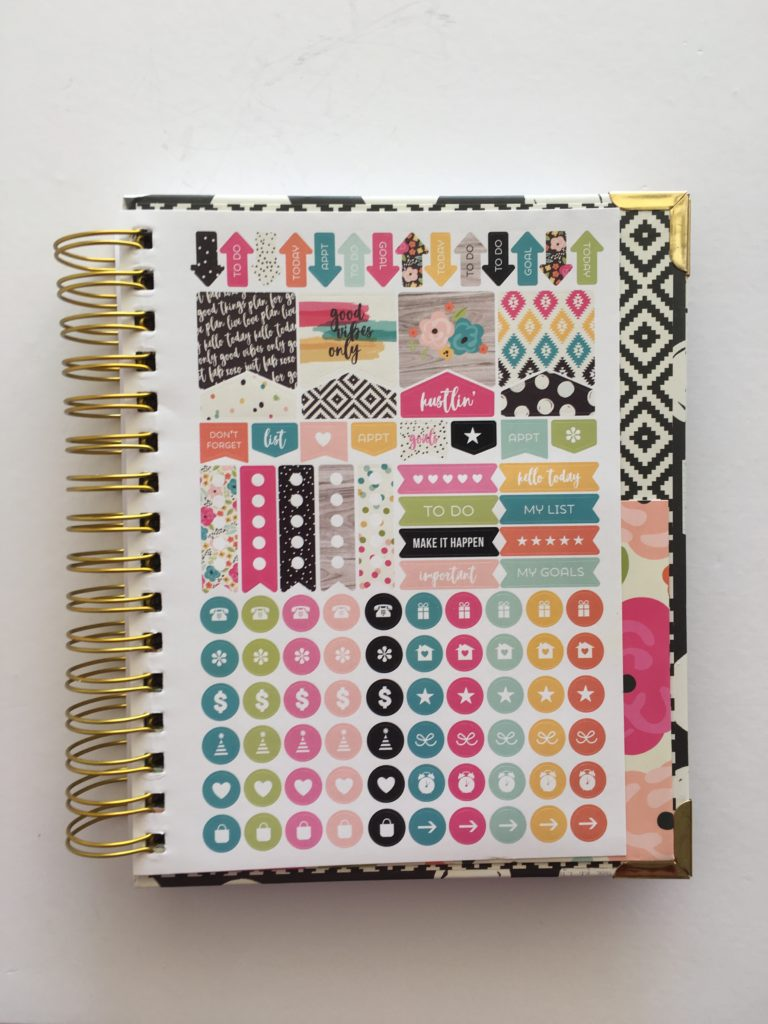 carpe diem planner stickers spiral bound review colorful icon functional list making cheap planner for 2018 school academic year horizontal 2 page weekly spread lined