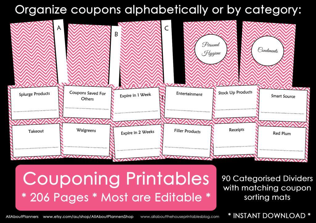 coupon binder divider organizer how to organize coupons save money printable diy editable sorting mats file storage