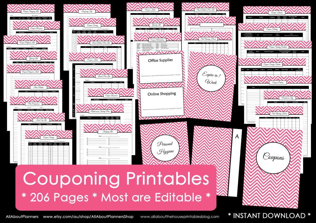 coupon binder printable editable organization lowest store price list grocery resource household binder diy
