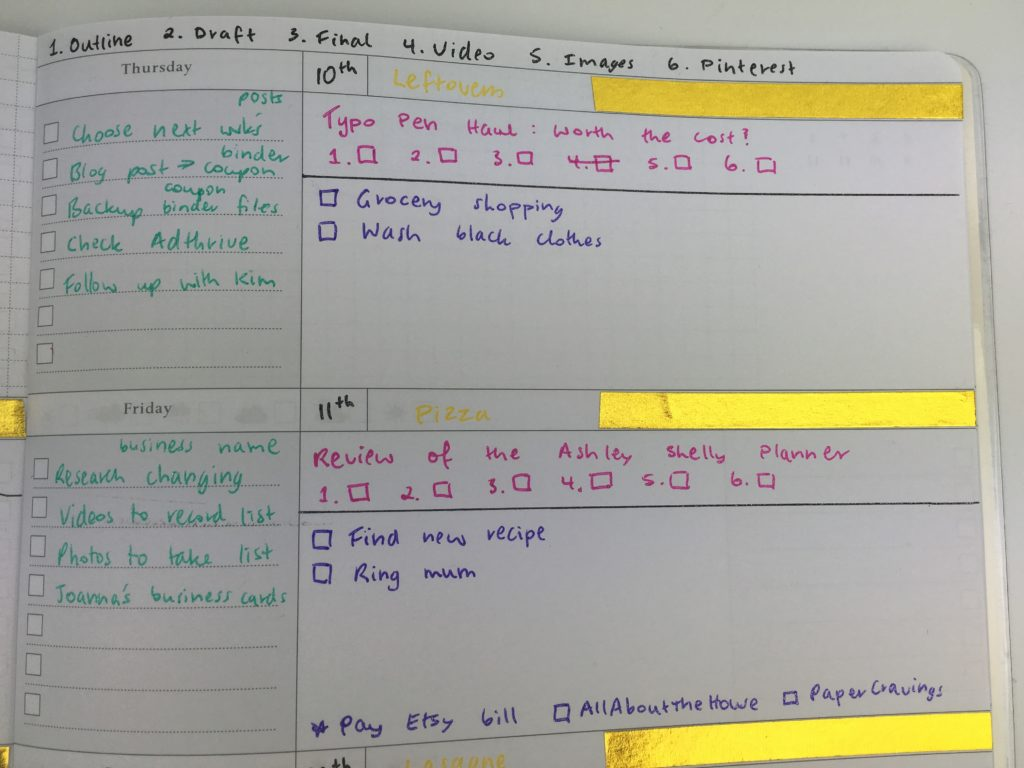 how to effectively plan your week spread ideas diy undated horizontal planner layout functional color coding washi tape