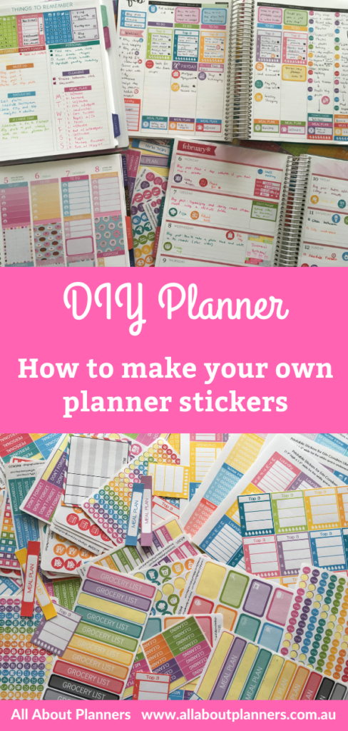 how to make your own planner stickers tutorial video ecourse erin condren happy planner full box icons half box lists