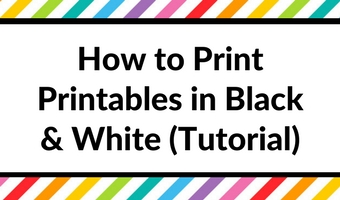 How to print any printable in black and white (greyscale) using your home printer