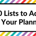 Using blank pages: 50 useful lists to add to your planner