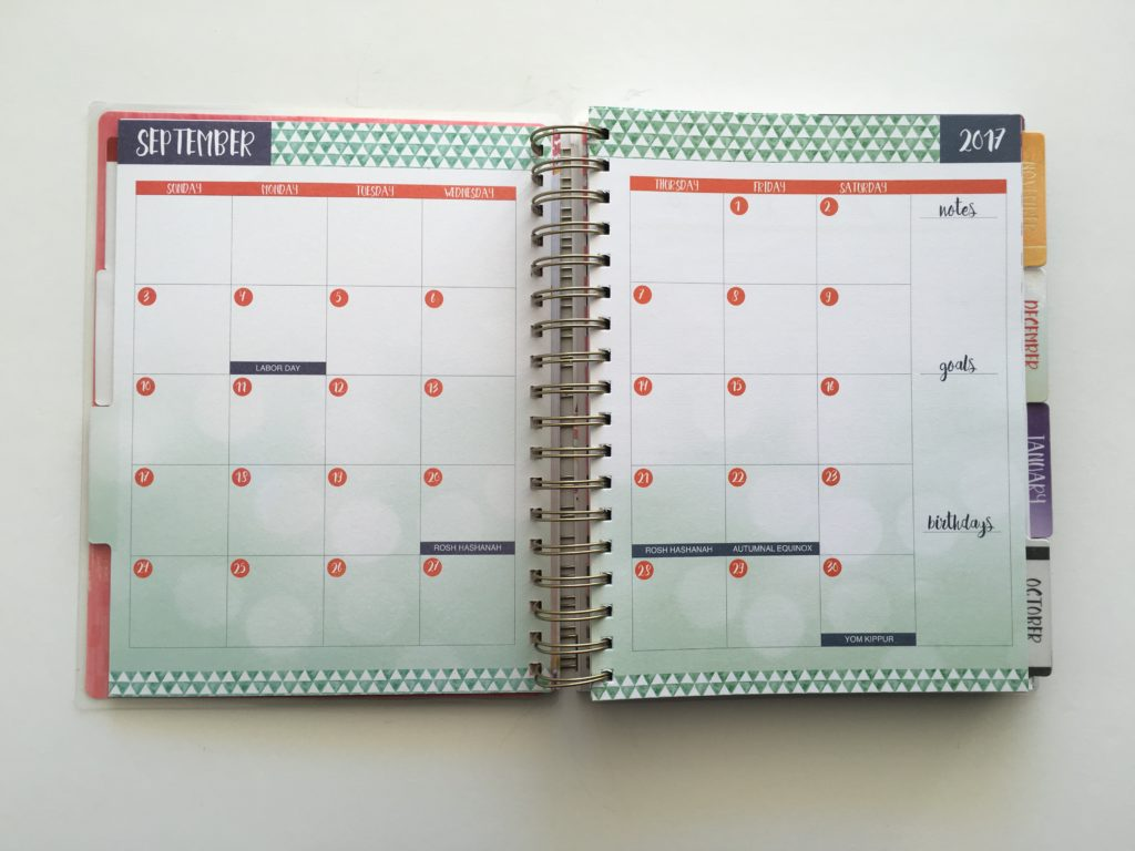 paper house weekly planner review colourful vertical 2 page monthly calendar monday start similar to EC