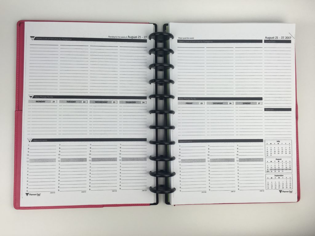 planner pad review all about planners minimalist black and white alternative to traditional layout veritcal categories hourly lined pdf printable