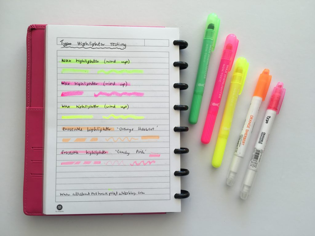 typo highlighters review better than frixion erasable was best highlighters for planning color coding tips australia planning supplies shop online cheap bright essential addict