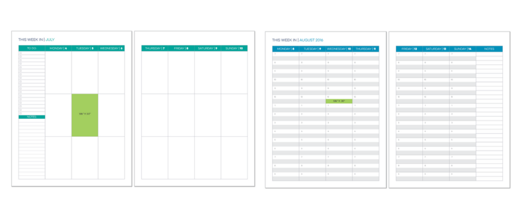LimeLife Planner, Weekly Layout, Layout A &B , Planner customization