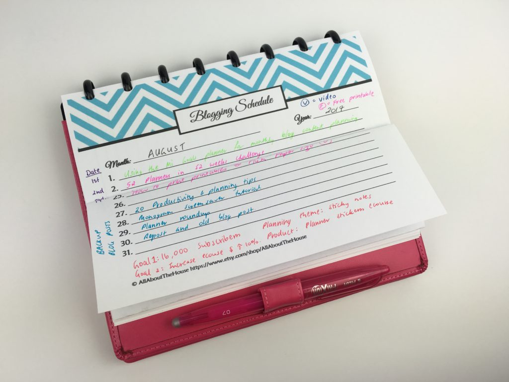Planner hack tips a5 page size using full page inserts tips monthly blog planning ideas inspiration arc notebook