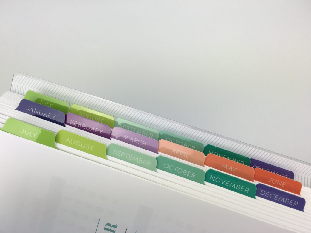 Plum paper planner review tabs durable custom personalised 2 page weekly spread me planner color coding arcing