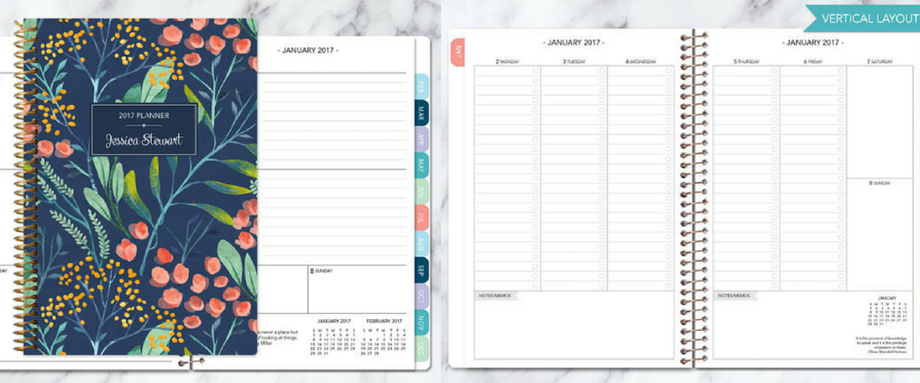 Posy Paper Planner, Weekly Planner, Vertical Layout, Horizontal Layout