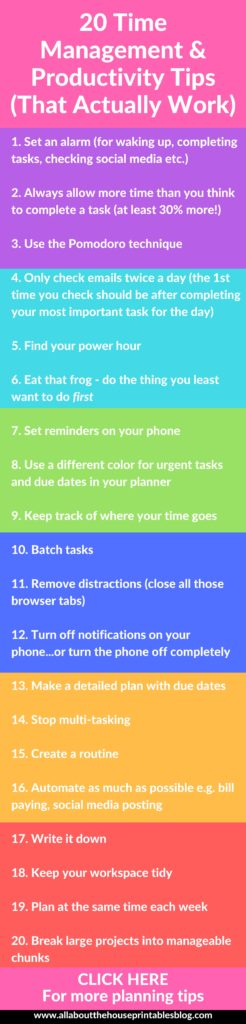 Time management productivity tips ideas how to get the most out of your planner effective color coding inspiration planner setup