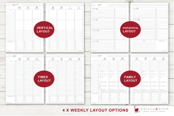 Whistle and Birch Weekly planner Layout cheaper alternatives to the erin condren life planner australia vertical horizontal diy