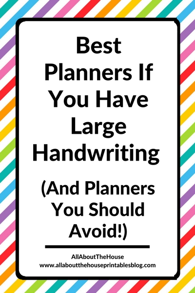 best planners for people with large hand writing and planners to avoid organization diy mambi review roundup school blogging mom