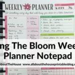 Using the Bloom weekly planner notepad (Week 37 of the 52 Planners in 52 Weeks Challenge)