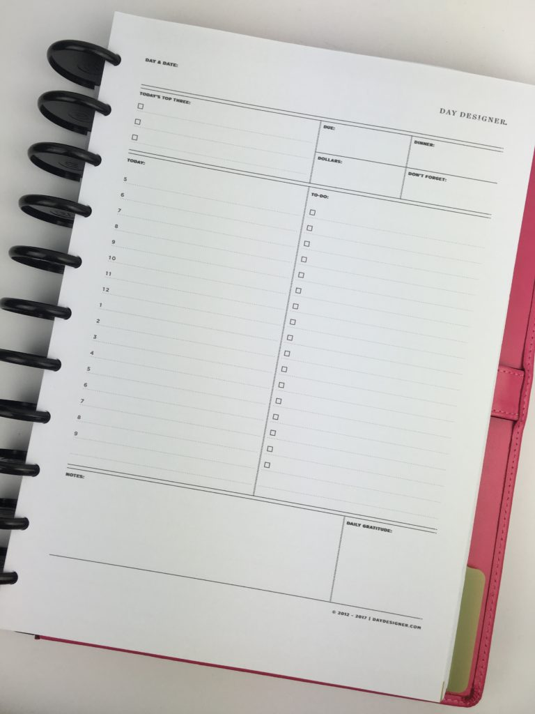 picture regarding Daily Planner Notebook called Striving out the Working day Designer Day-to-day Planner as a result of Whitney English