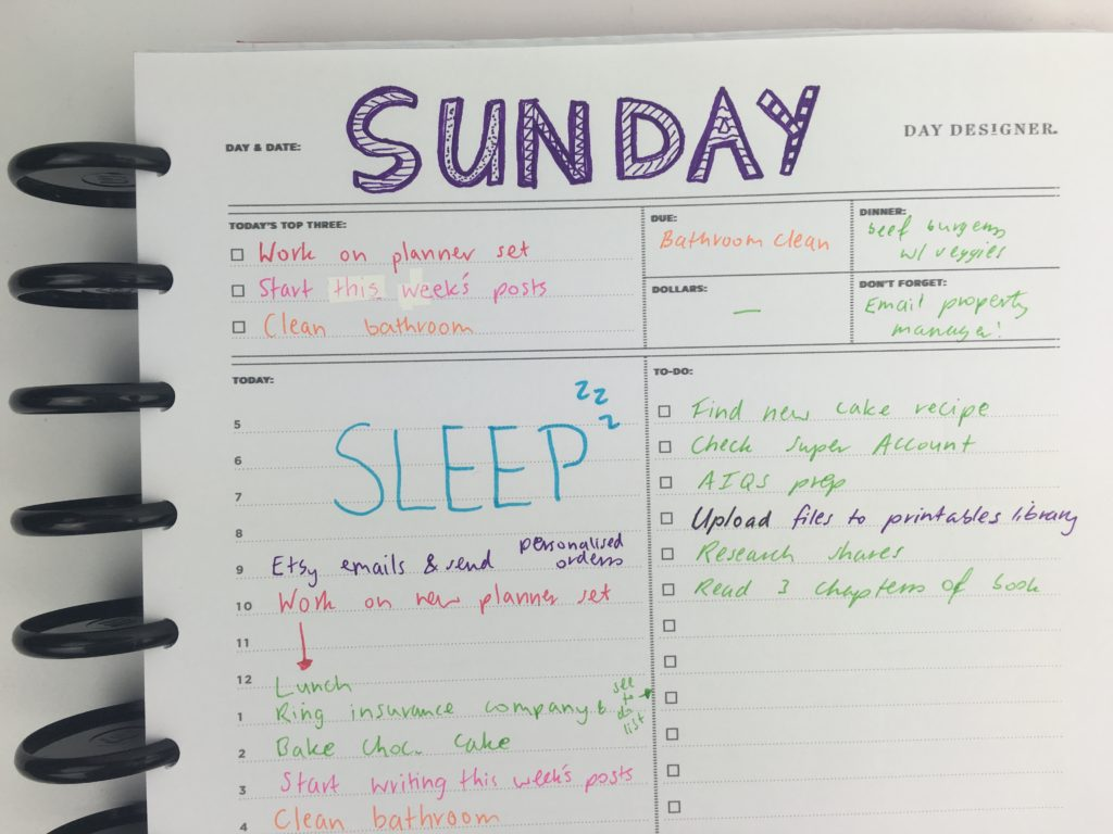 Trying out the Day Designer Daily Planner by Whitney English (Review)