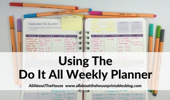 Using the Do It All Weekly Planner by Orange Circle Studio (Week 38 of the 52 Planners in 52 Weeks Challenge)