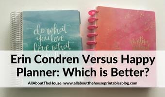 Erin Condren Horizontal Life Planner versus Horizontal Happy Planner: which planner is better?