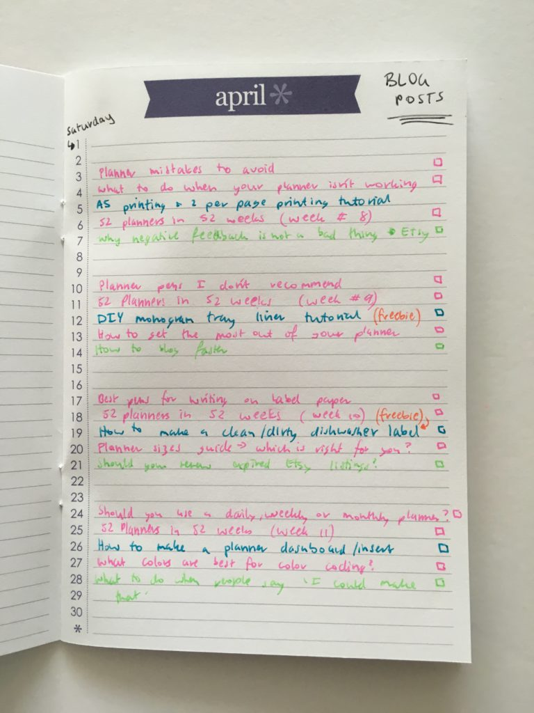 erin condren perpetual calendar planner monthly layout ideas uses for color coding blogging post editorial content pen and paper blog ideas spread bujo diy tips
