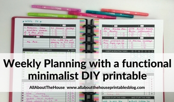 Planning with a functional minimalist DIY weekly planner printable (52 Planners in 52 Weeks – Week 35)