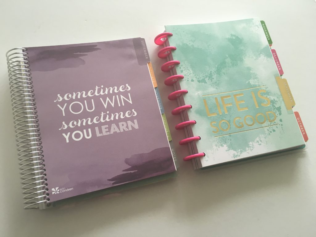 happy planner versus erin condren life planner horizontal pros and cons review disbound spiral bound size mambi