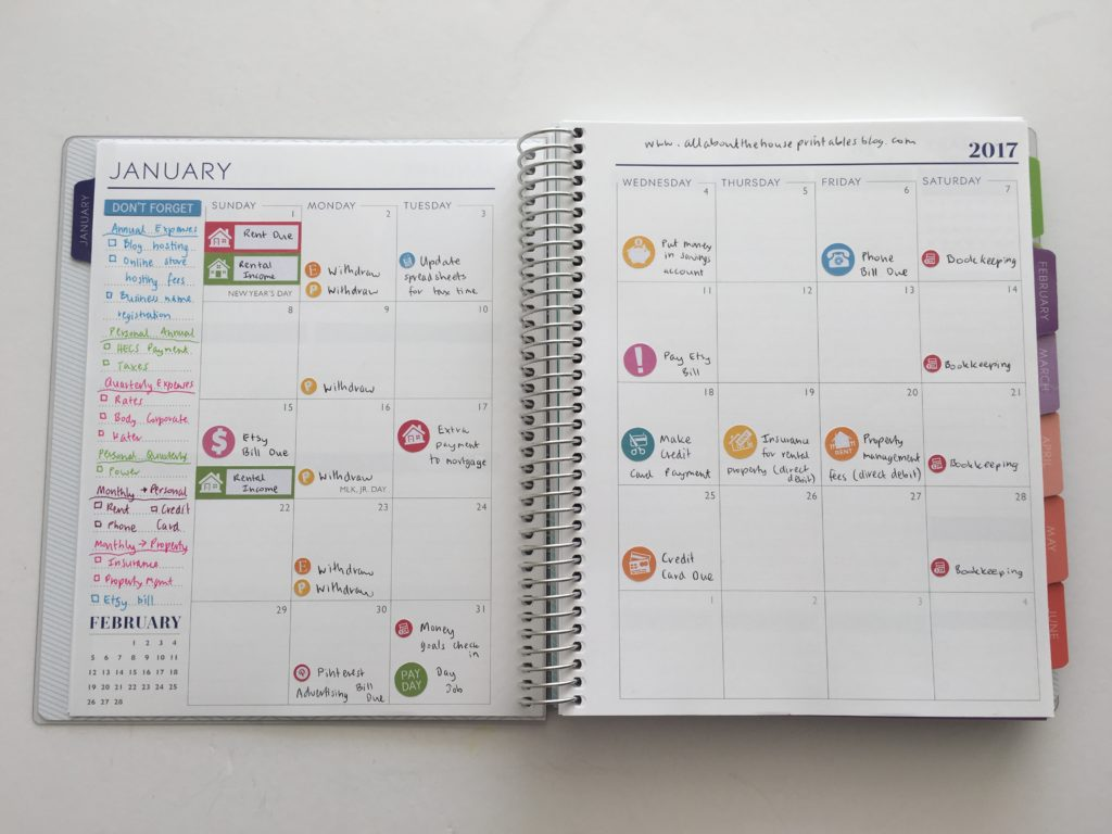how to color code your planner using icon stickers functional planning pay day inspiration ideas monthly planner spread calendar plum paper bill due