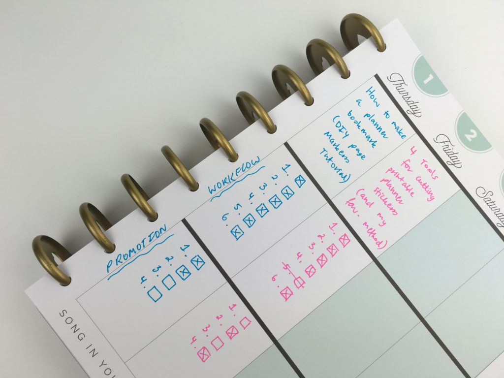 how to plan with limited space mambi happy planner color coding blog planning efficient tips ideas hacks planning setup bujo bullet journal workflow to do list pens inspiration