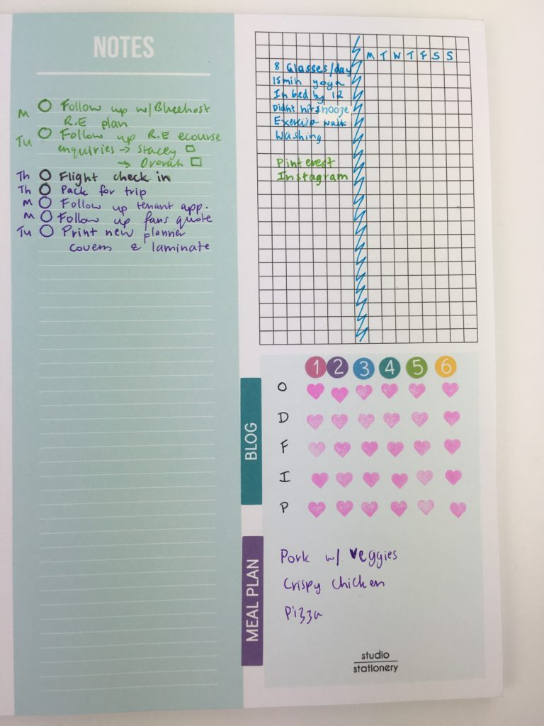 how to use the sidebar of your planner to do list habit tracker graph inspiration stickers stamps spread layout idesa bujo bullet