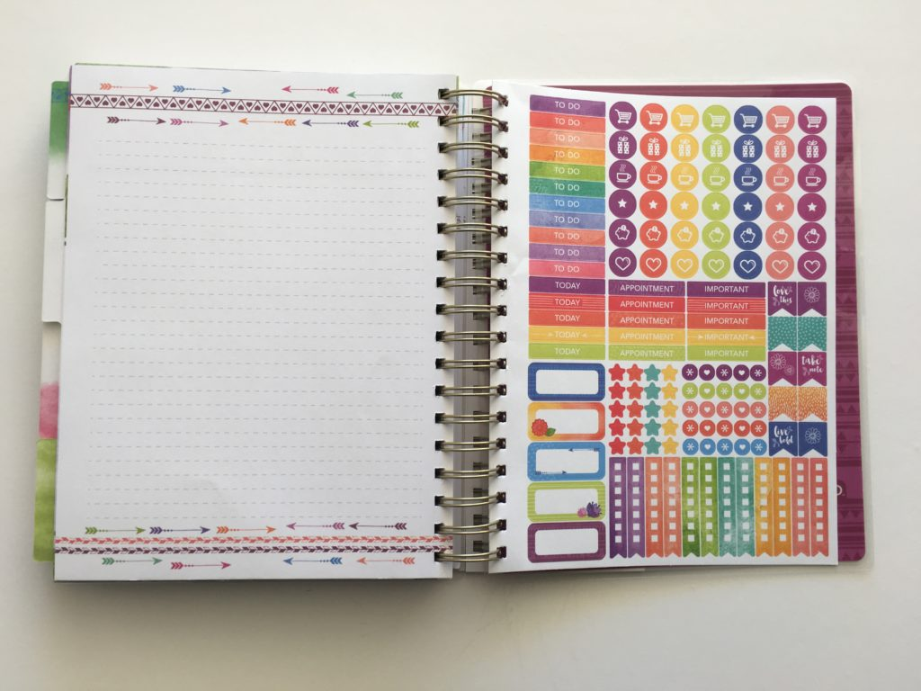 life organized weekly planner by paper house productions honest review planner stickers sized for colorful alternative to EC