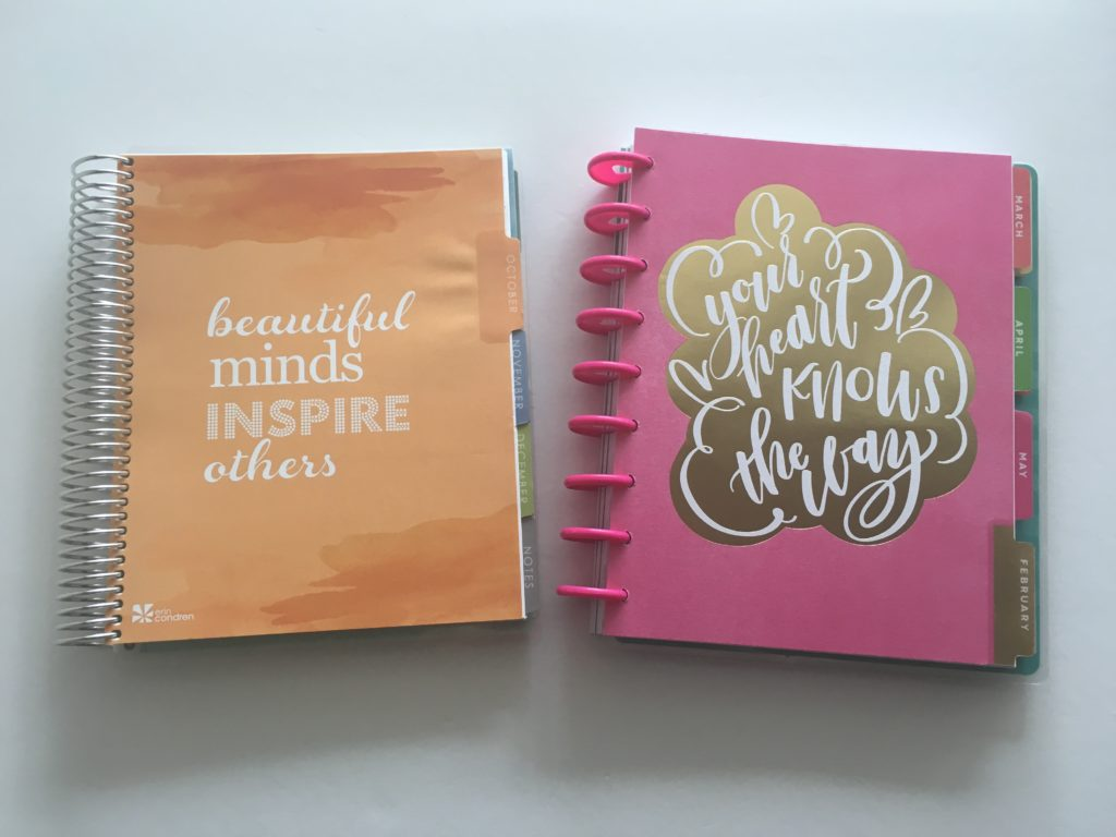 mambi happy planner horizontal versus erin condren life planner ec tabs similar cheaper alternatives review pros and cons divider