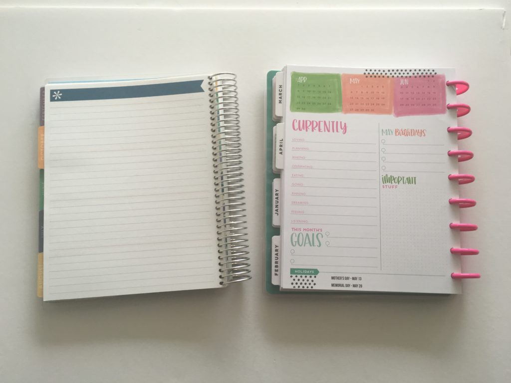 mambi happy planner horizontal versus erin condren life planner ec tabs similar cheaper alternatives review pros and cons monthly