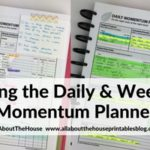 Planning using the daily and weekly Momentum Planner by Productive Flourishing (Week 36 of the 52 Planners in 52 Weeks Challenge)