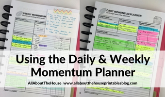 momentum weekly planner review daily color coding highlighters a4 printable undated minimal simple goal setting task focused diy