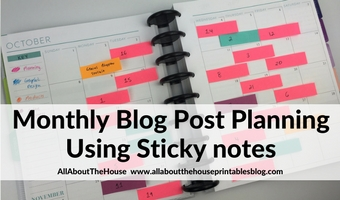 monthly blog post planning using sticky notes organization color coding ideas inspiration tips hacks system plan with me content