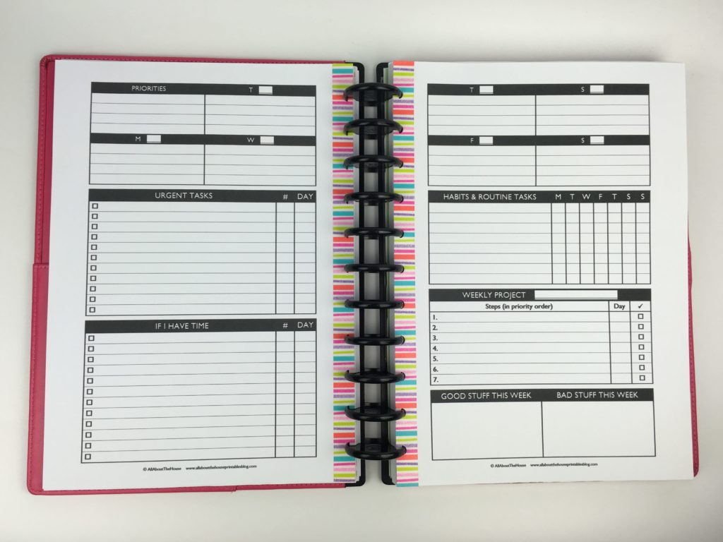 plan with me challenge 52 planners in 52 weeks before the pen spread diy free printable horizontal task checklist