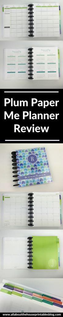 plum paper me planner review weekly organizer diy arc notebook dimensions blog mom blogging school college categorised