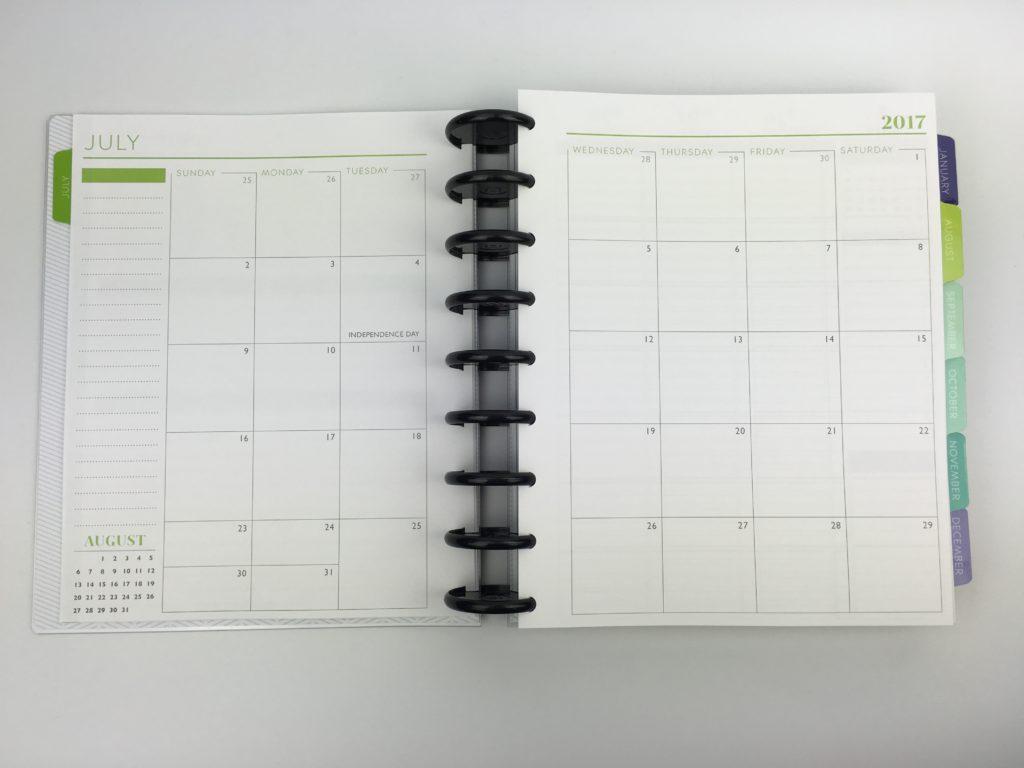 plum paper monthly calendar 2 page spread color coding organization arc planner better than erin condren comparison arc notebook