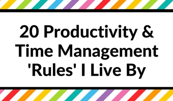 productivity and time management rules I live by organization strategies setup a weekly spread planning plan with me weekly