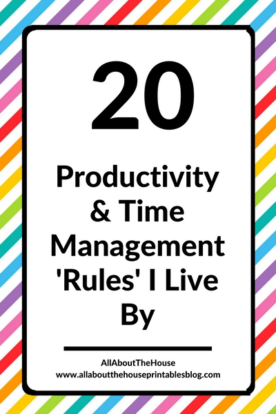 productivity and time management rules I live by organization strategies setup a weekly spread planning plan with me