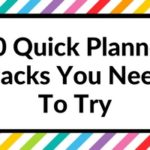 10 Quick planner hacks you need to try (planning tips & inspiration)