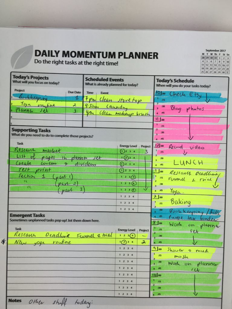 review of the daily momentum planner day to a page cheaper alternative to emily ley day designer undated printable task project self employed-min