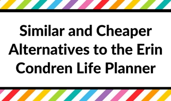 Similar and Cheaper Alternatives to the Erin Condren Life Planner (Planner Roundup)