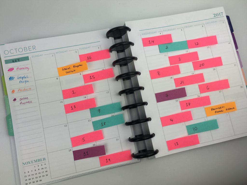 Diy Editorial Calendar : Ways to plan using sticky notes