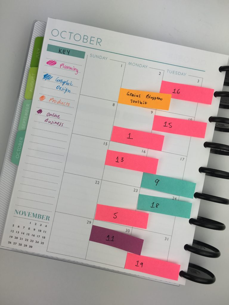 Weekly Calendar Sticky Notes : Ways to plan using sticky notes
