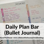 Planning using the daily plan bar method (bullet journal inspired)