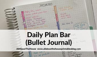 Planning using the daily plan bar method (bullet journal inspired)