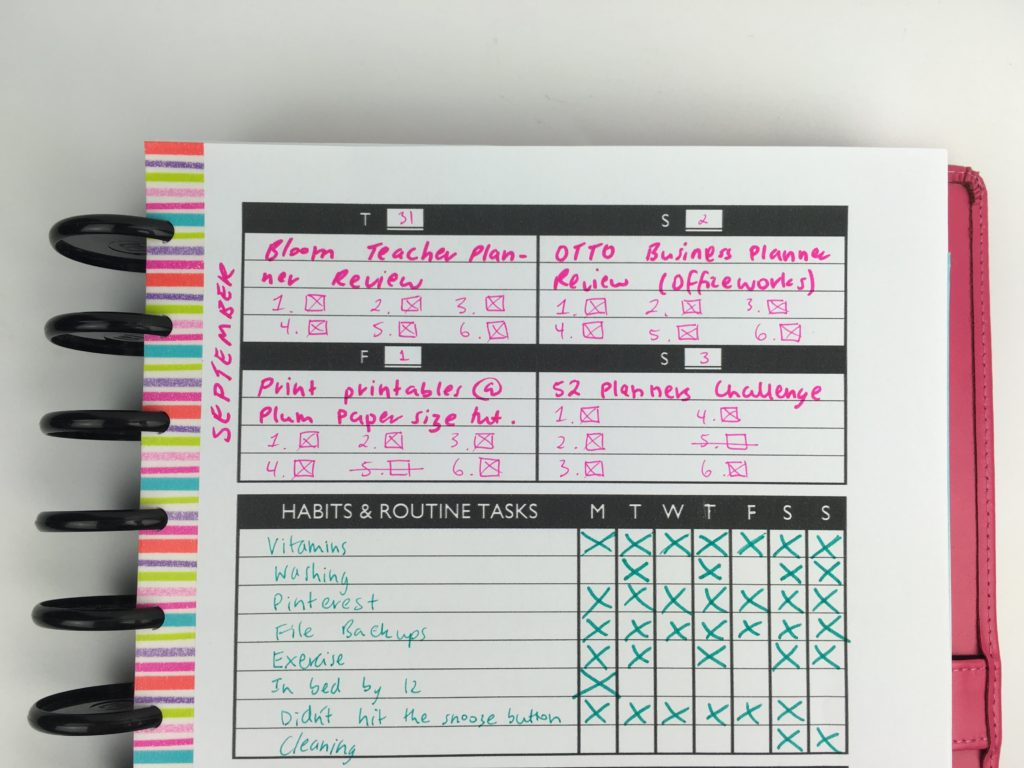 weekly planner pdf editable free habit tracker blog planning ideas tombow twin tone pens review plan with me diy
