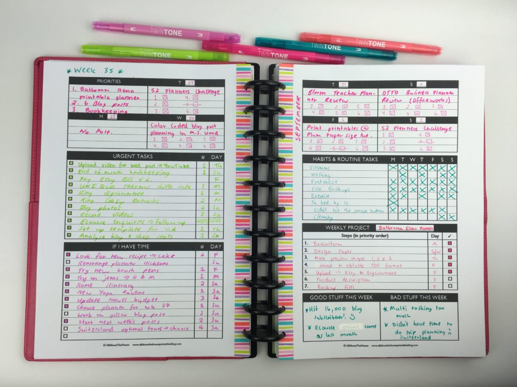 Planning with a functional minimalist DIY weekly planner ...